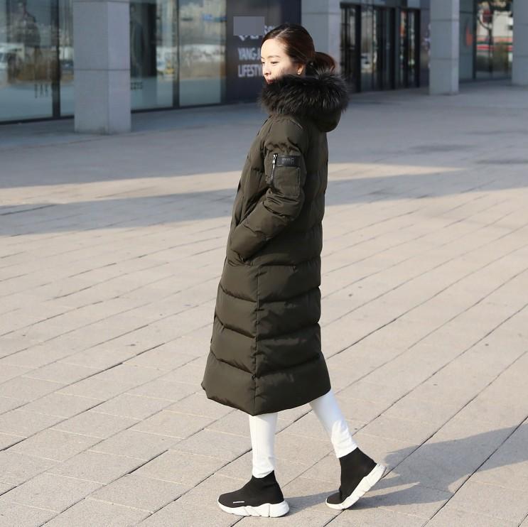 ba73191c1eb 박신혜 로엠 패딩 리얼 폭스 롱패딩 풍성해서 좋다.